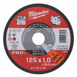 Milwaukee tarcza 125 x 1 mm do metalu PRO +